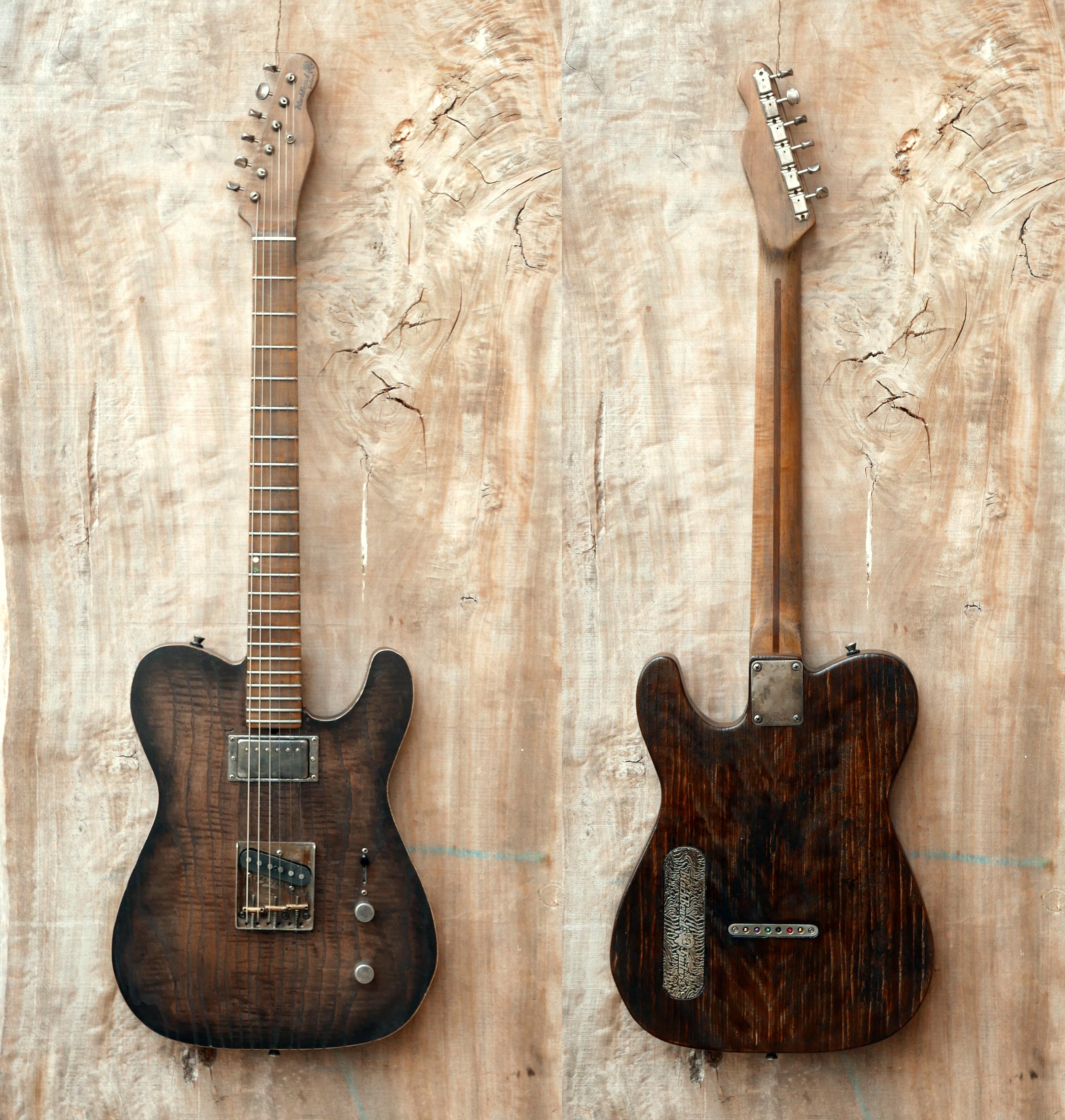 chitarra appesa fronte retro