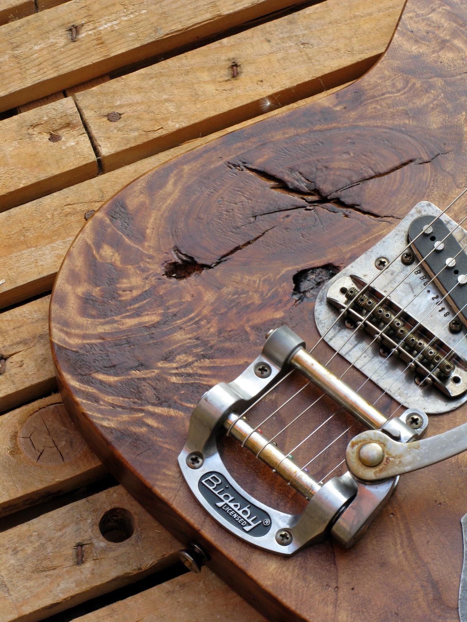 Bigsby di una chitarra Telecaster in pioppo antico
