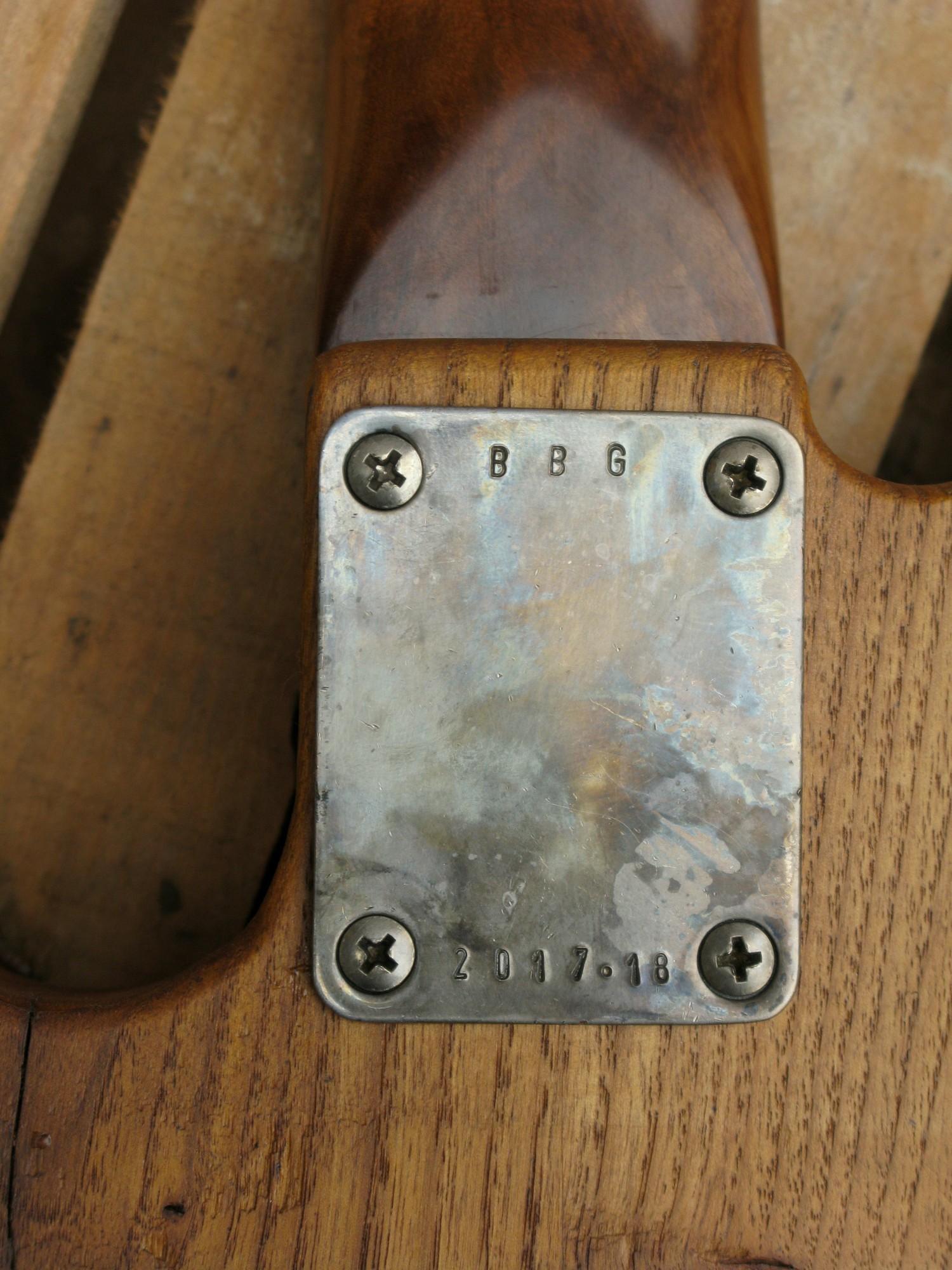 Piastra di una Telecaster con corpo in castagno secolare e manico in acero roasted