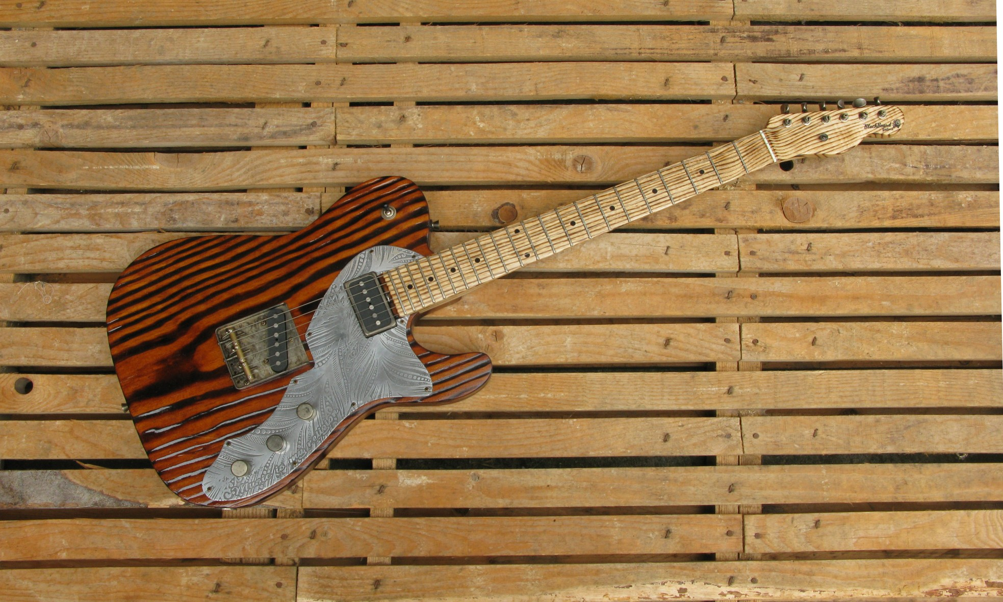 Telecaster in yellow pine e manico in frassino