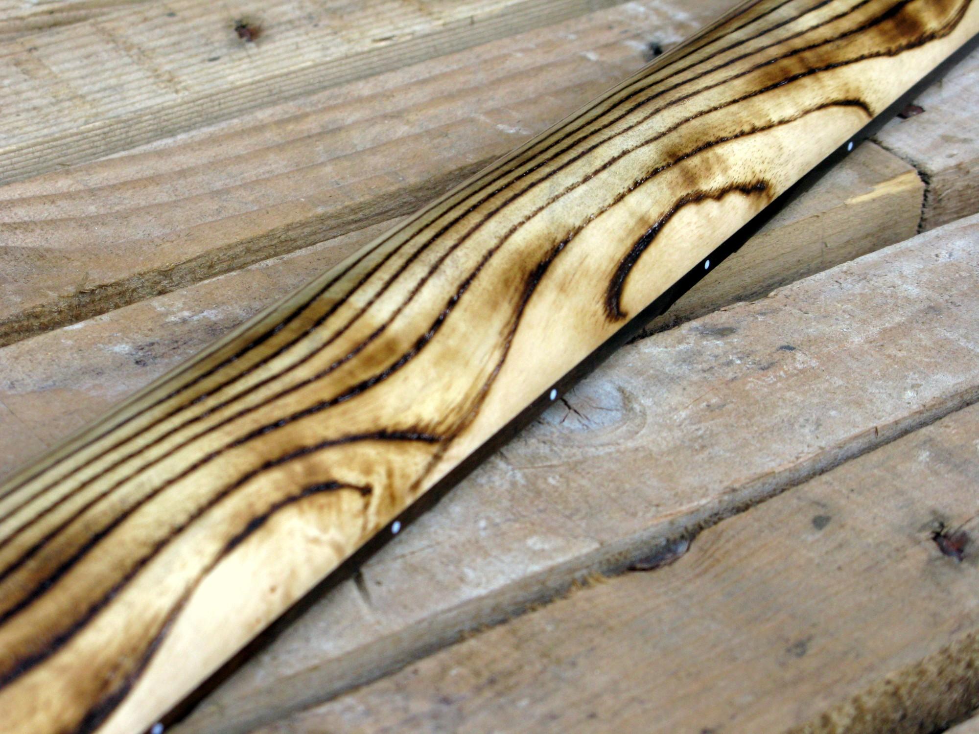 Retro del manico in frassino di una Telecaster Thinline in yellow pine