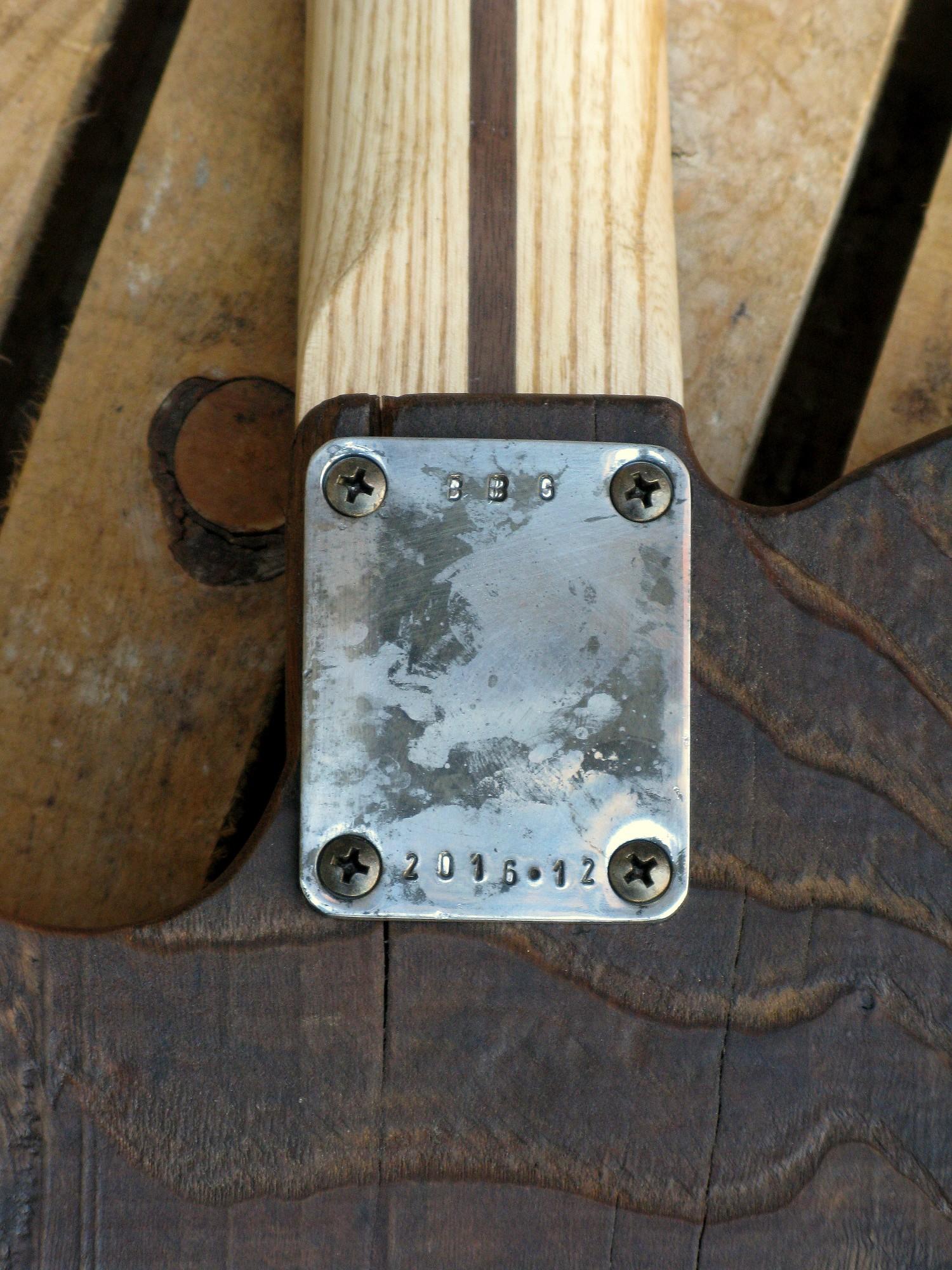 Chitarra telecaster in castagno piastra manico