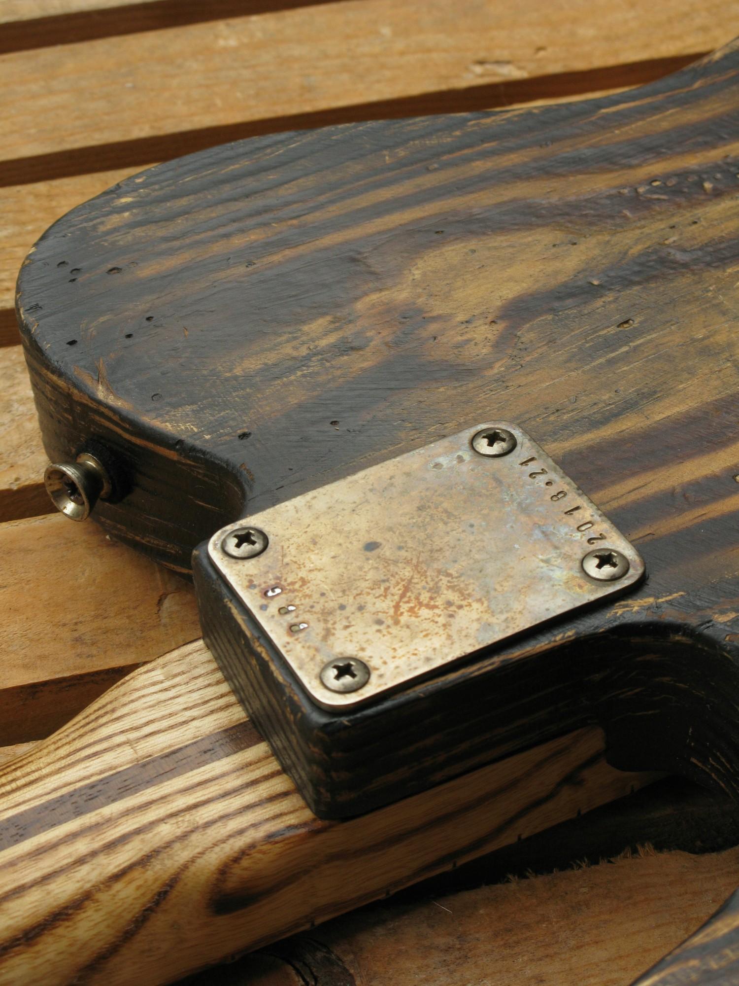 Piastra manico di una Telecaster in pitch pine