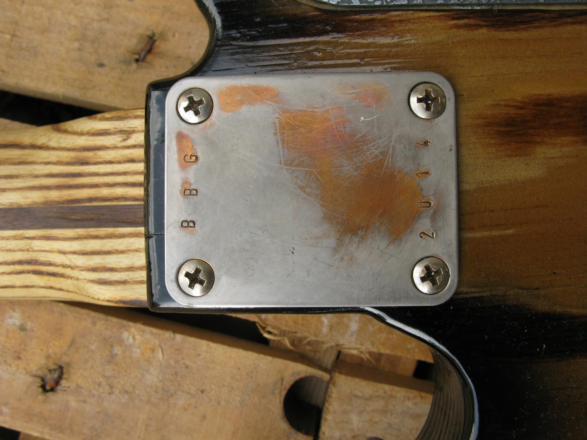 Piastra manico di una Telecaster Thinline in pino