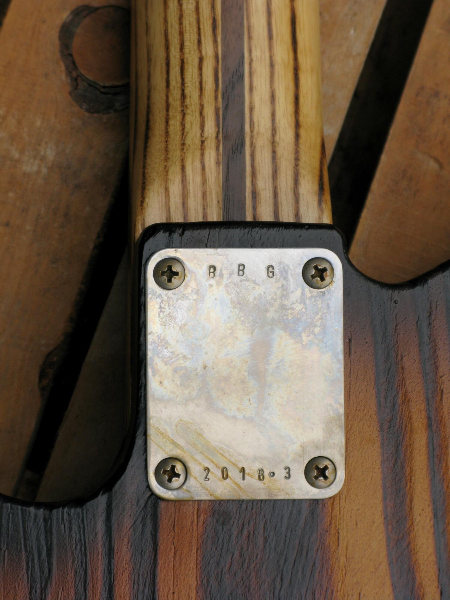 Piastra del manico di una Telecaster in yellow pine roasted