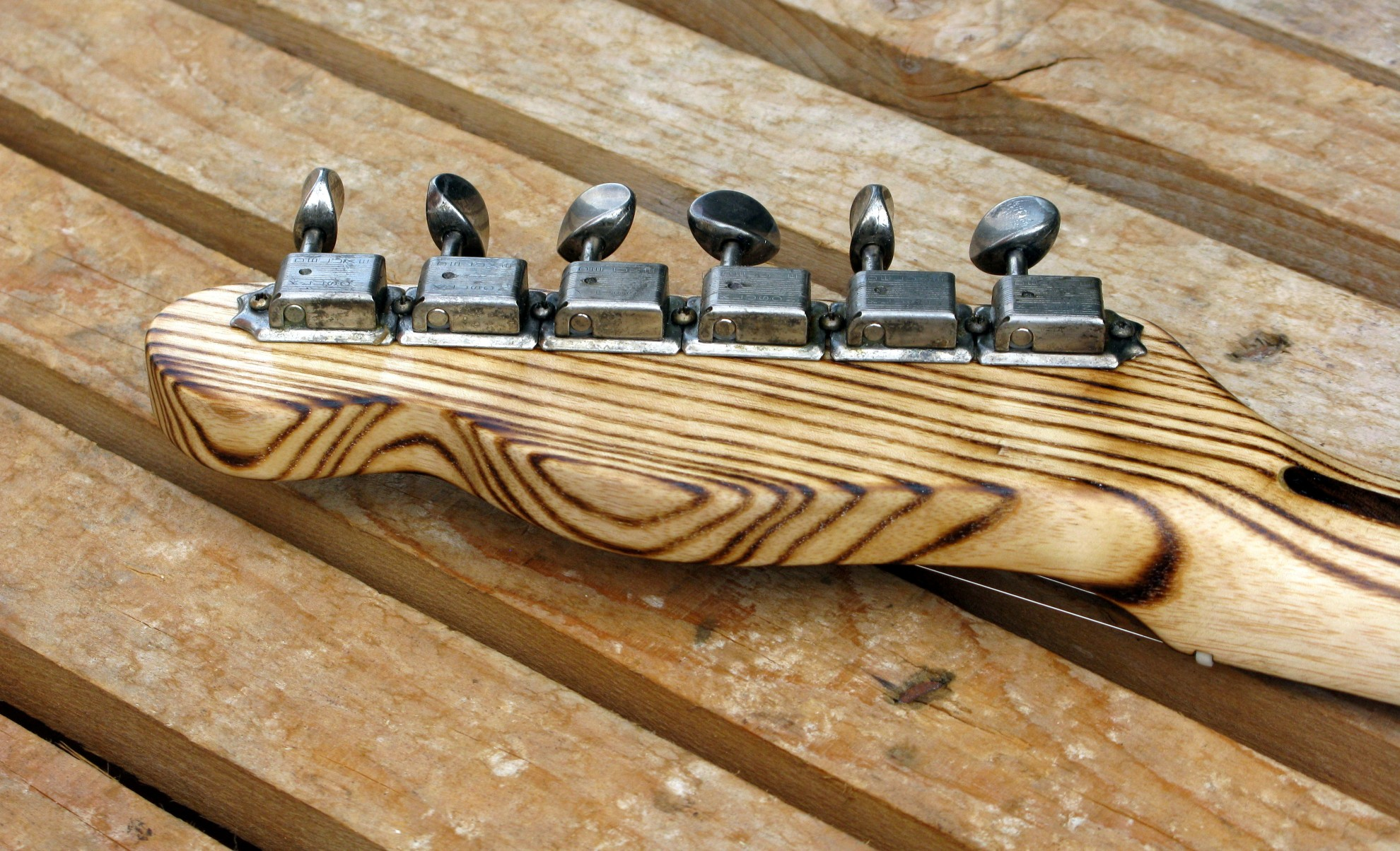 Retro di una paletta di una Telecaster body in pino roasted manico in frassino