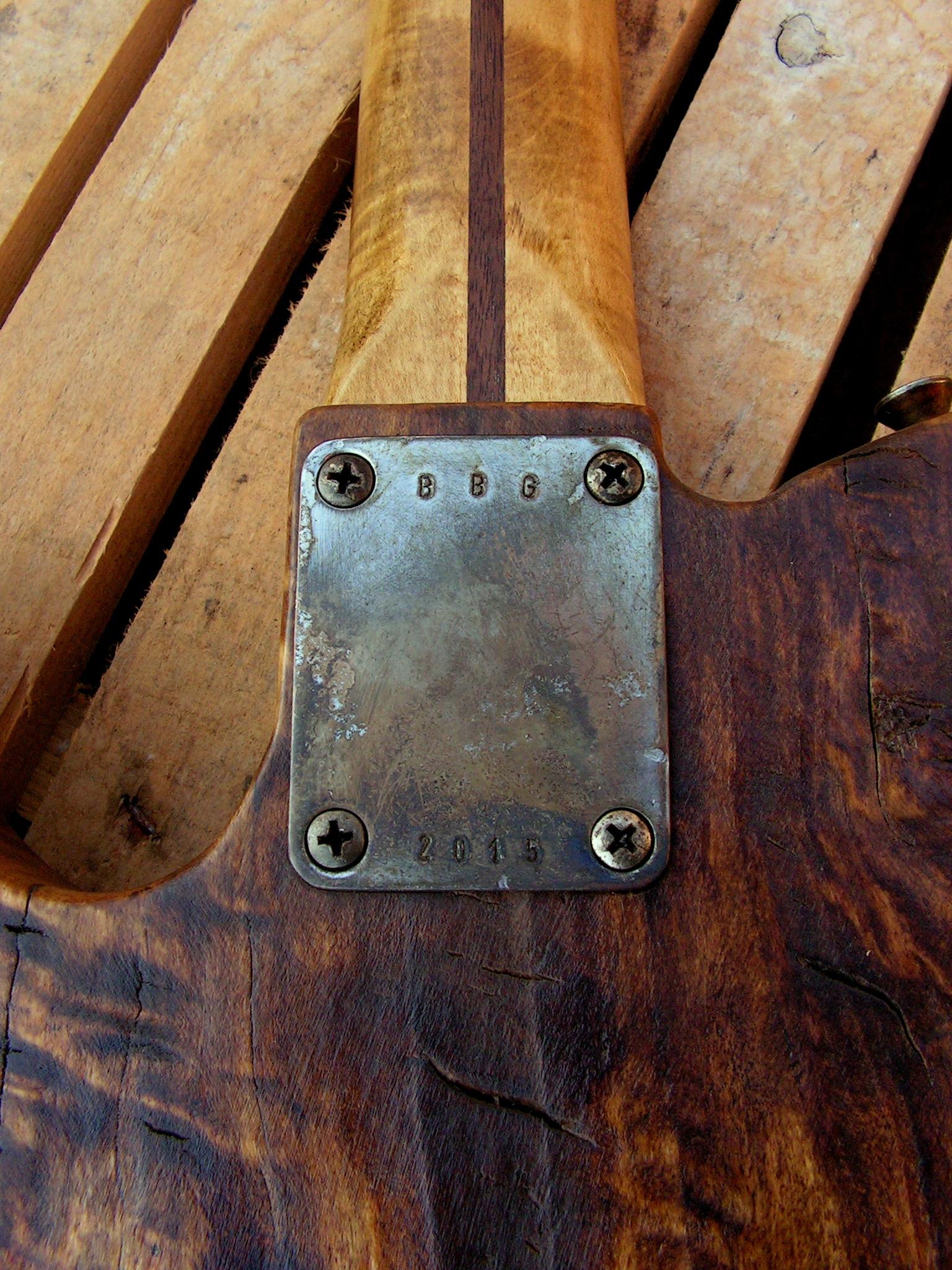 Piastra manico di una Telecaster in pioppo secolare