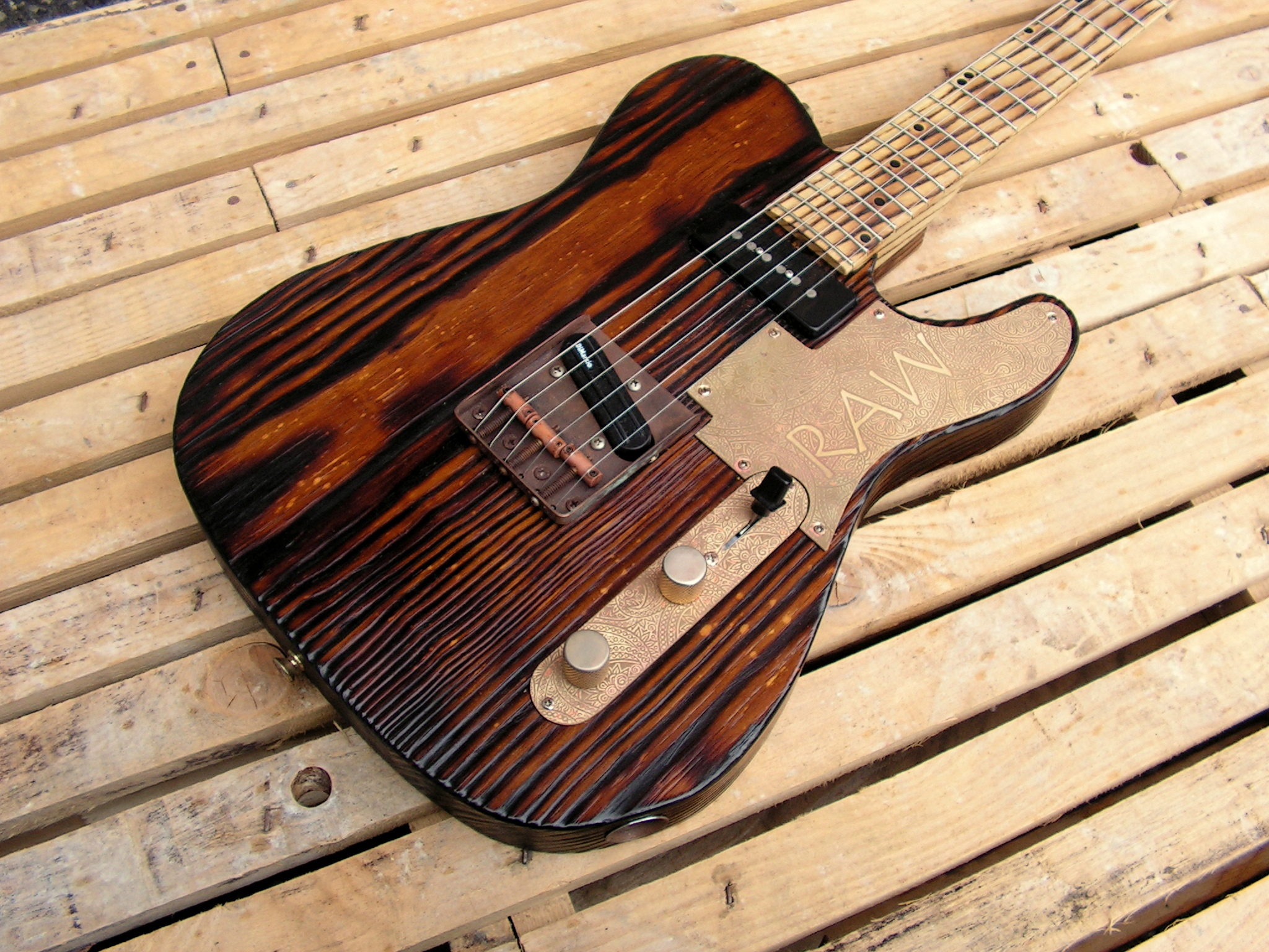 Telecaster roasted in yellow pine