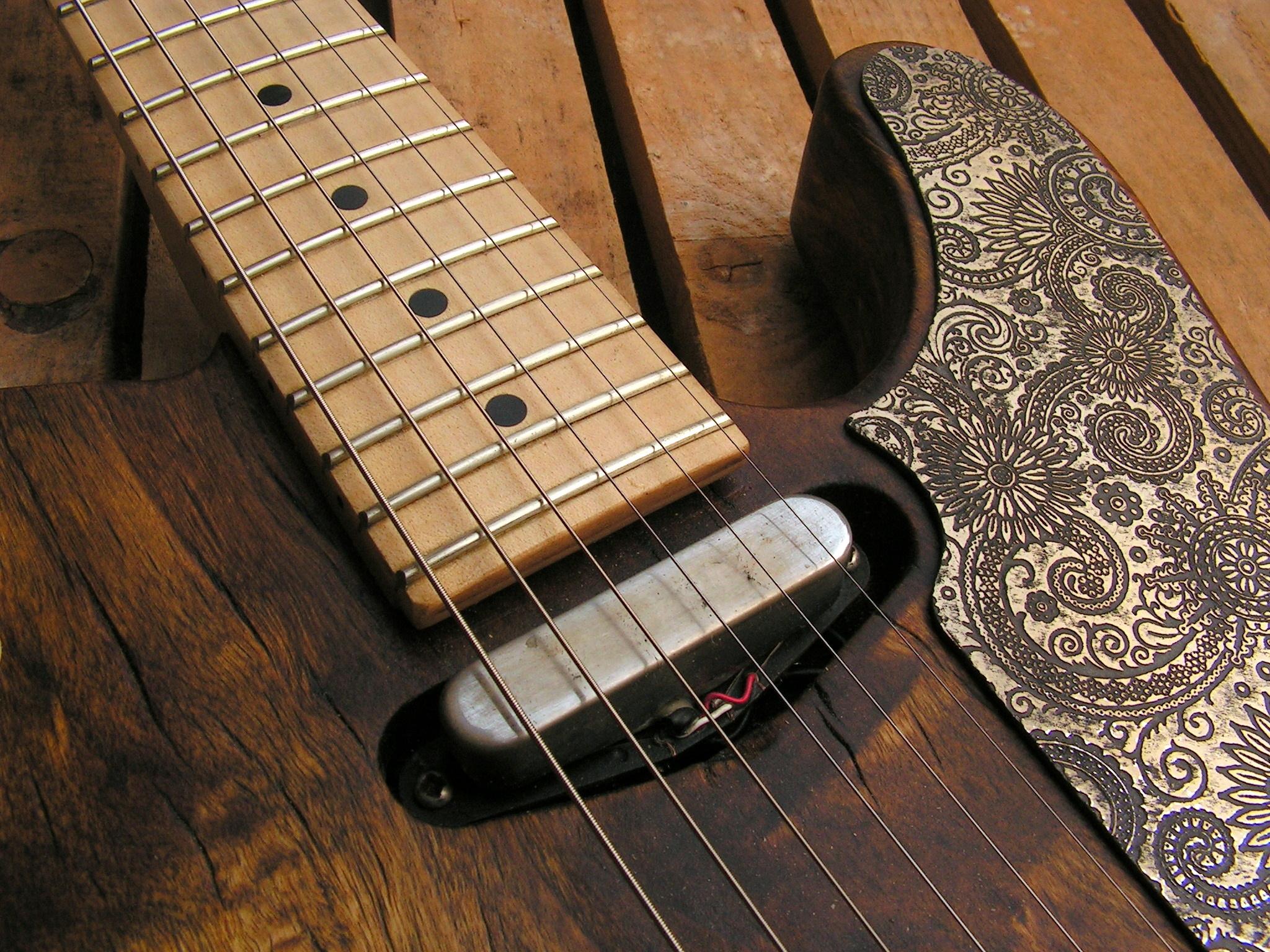 Pickup al manico di una chitarra elettrica Telecaster in pioppo