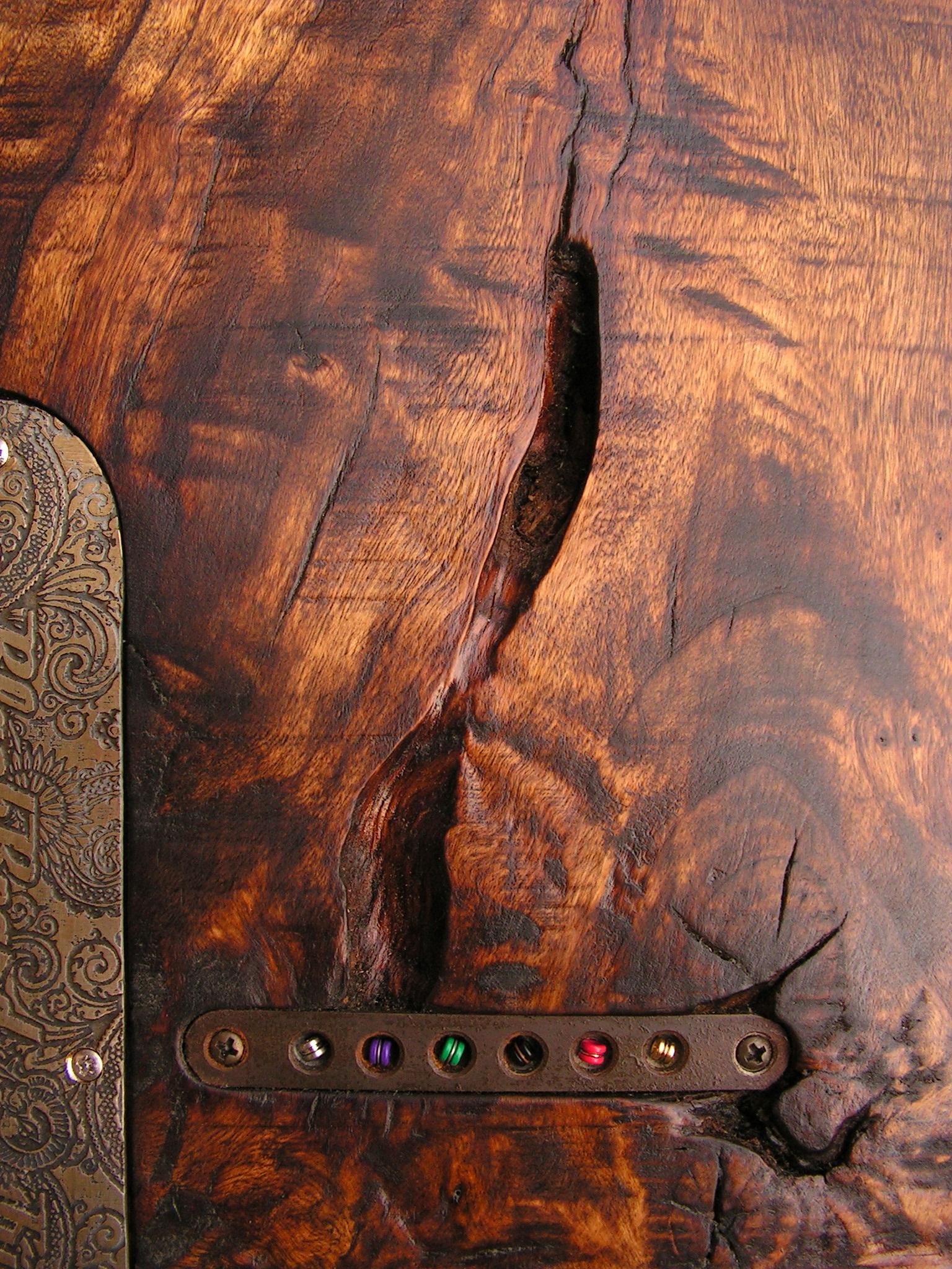 Retro del body in pioppo nodoso di una chitarra elettrica Telecaster con manico in acero