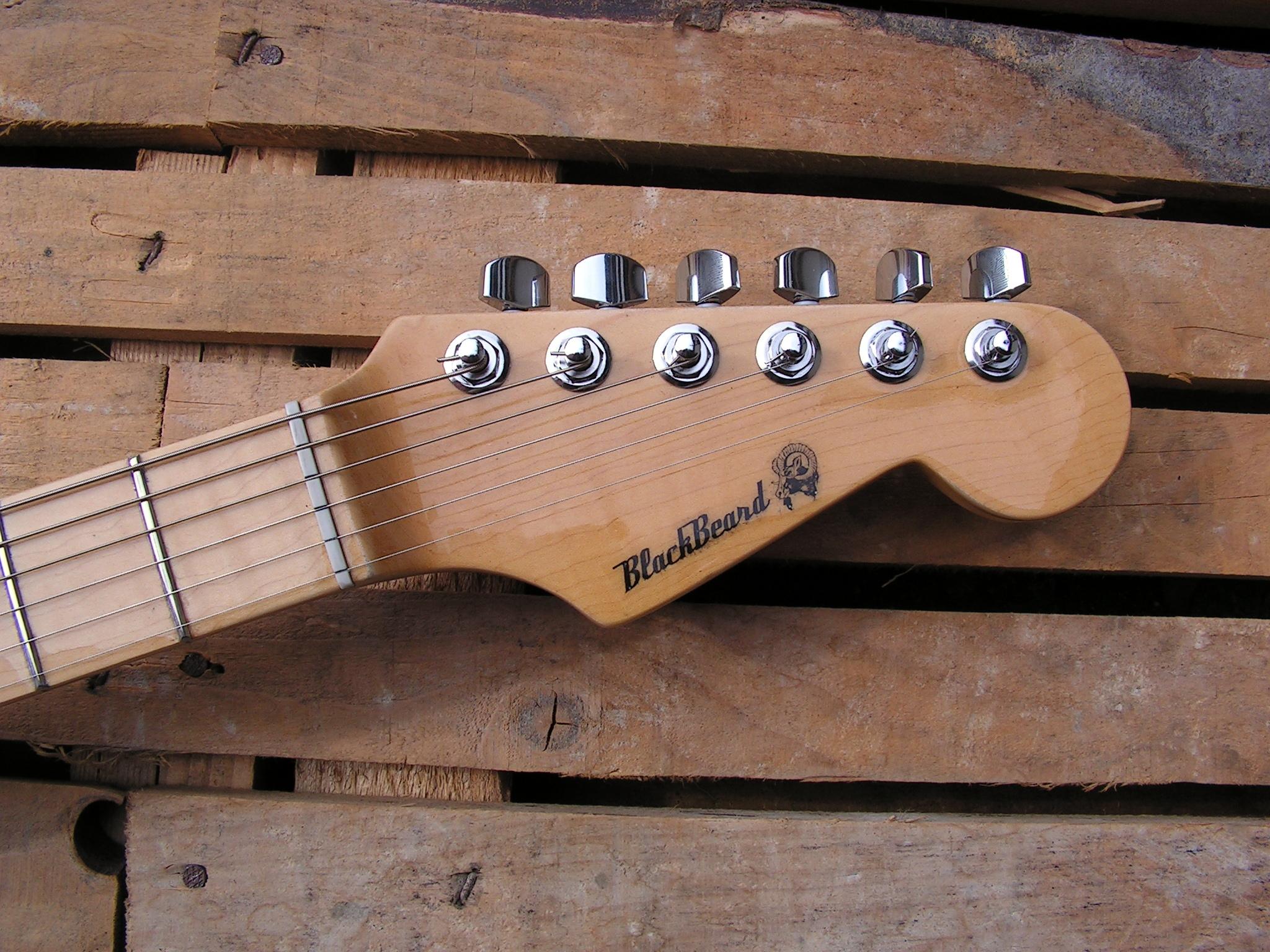 Paletta in acero di una chitarra Stratocaster con due humbucker