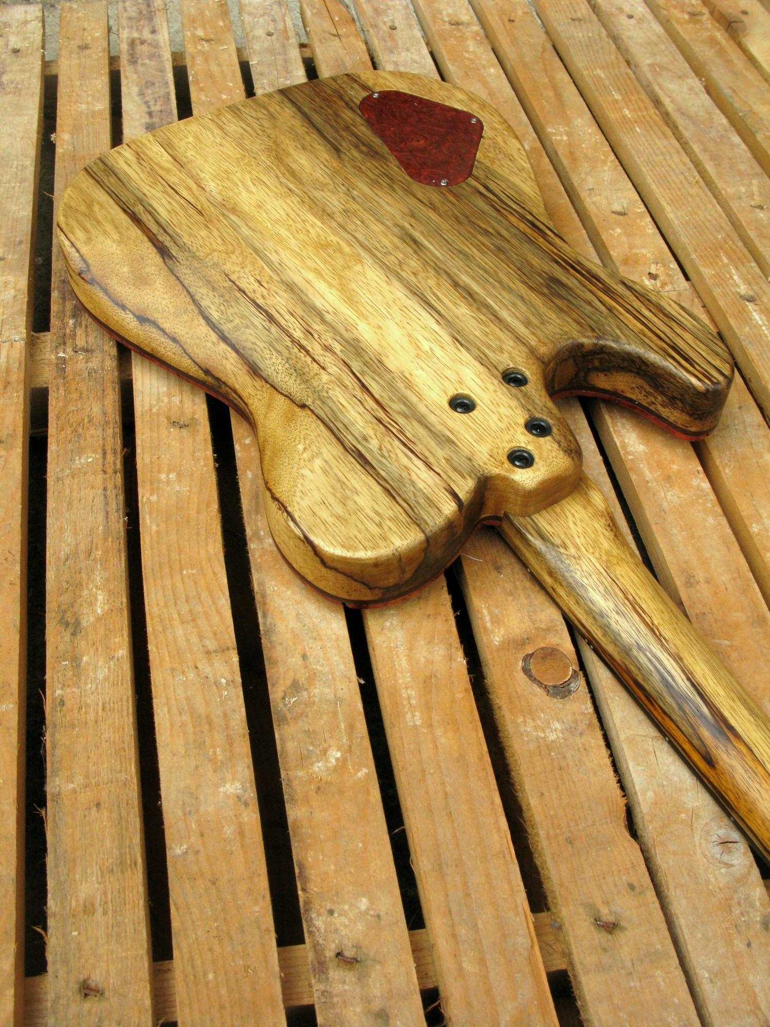 Retro di una chitarra Telecaster in black korina