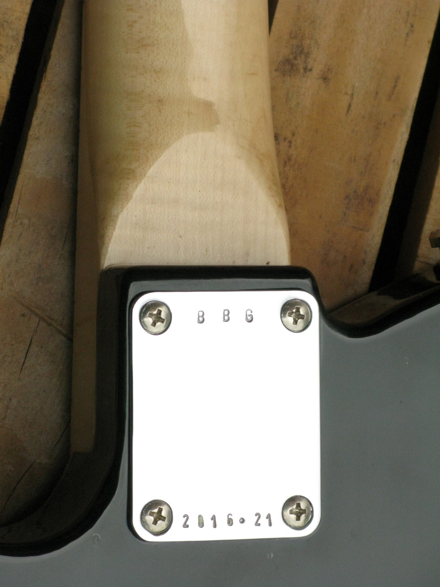 Piastra manico di una chitarra elettrica Telecaster in pioppo