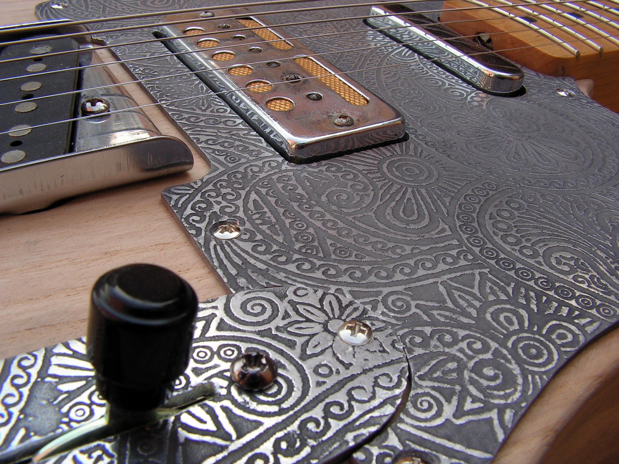 Pickup Teisco Gold Foil su una chitarra Telecaster
