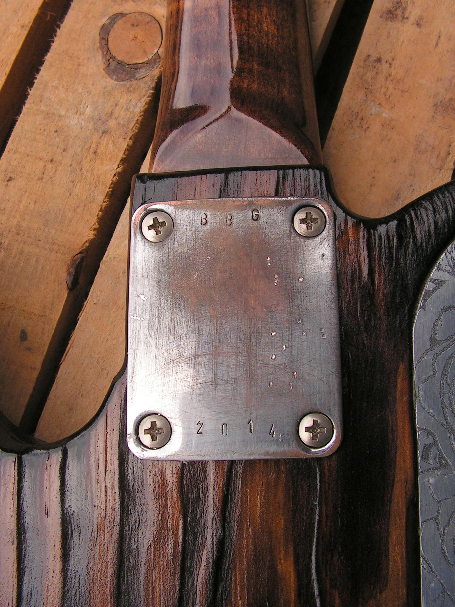 Piastra del manico di una Telecaster Thinline in yellow pine roasted