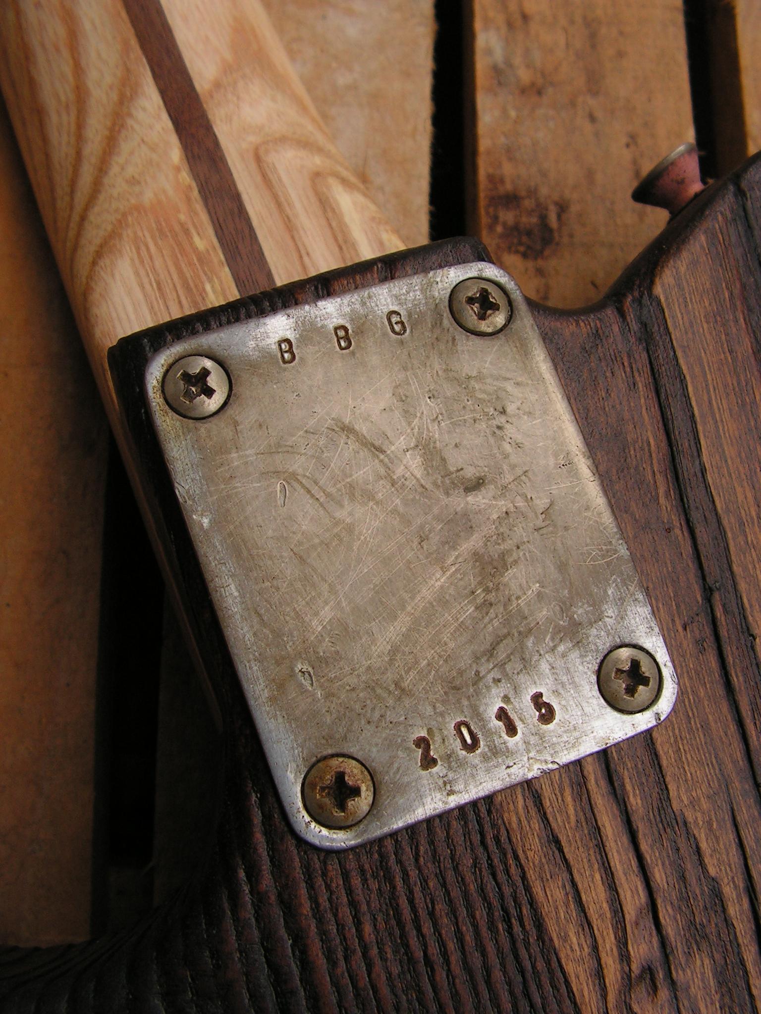 Piastra del manico di una Telecaster in castagno