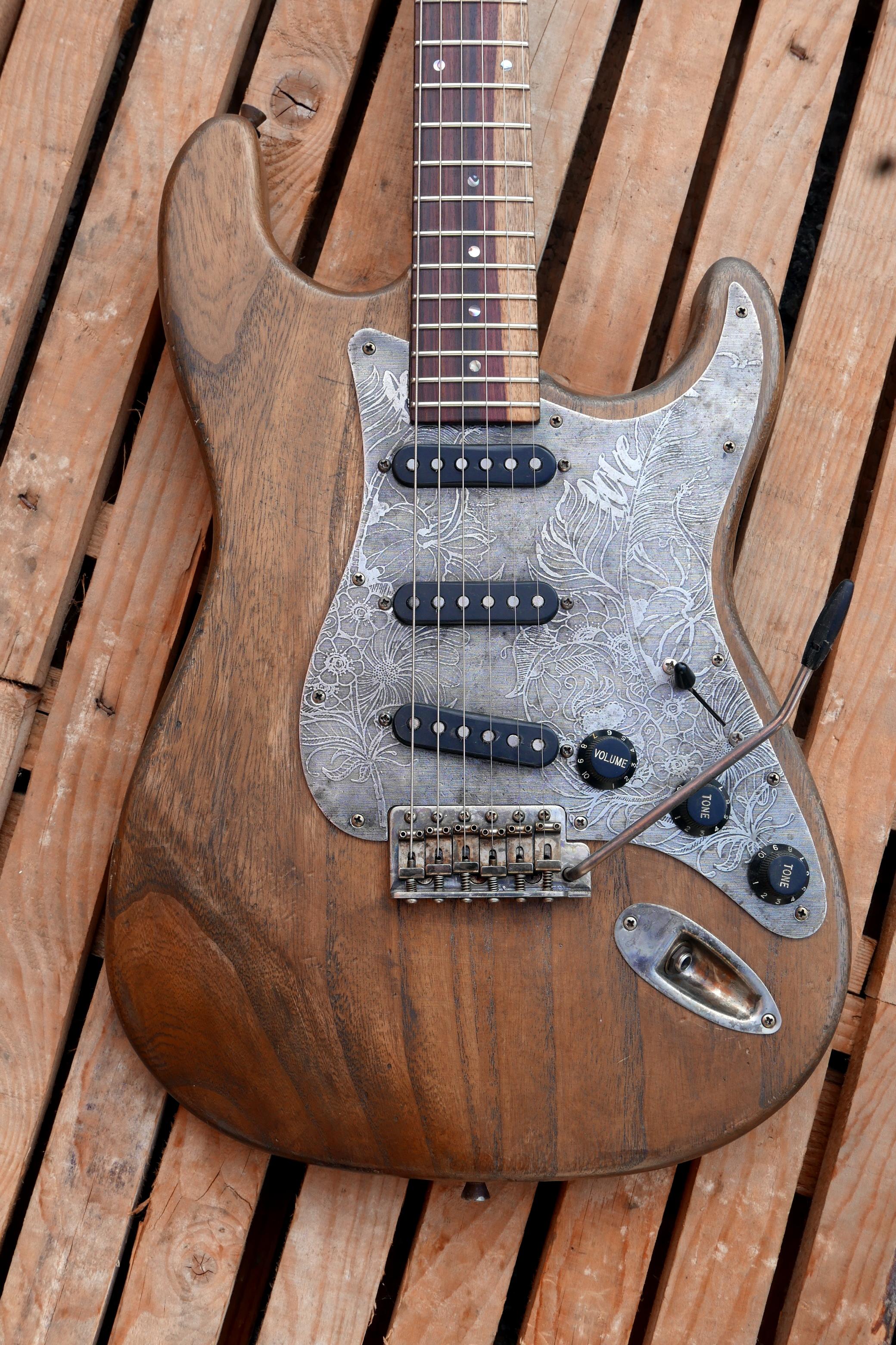 detaglio body e battipenna chitarra