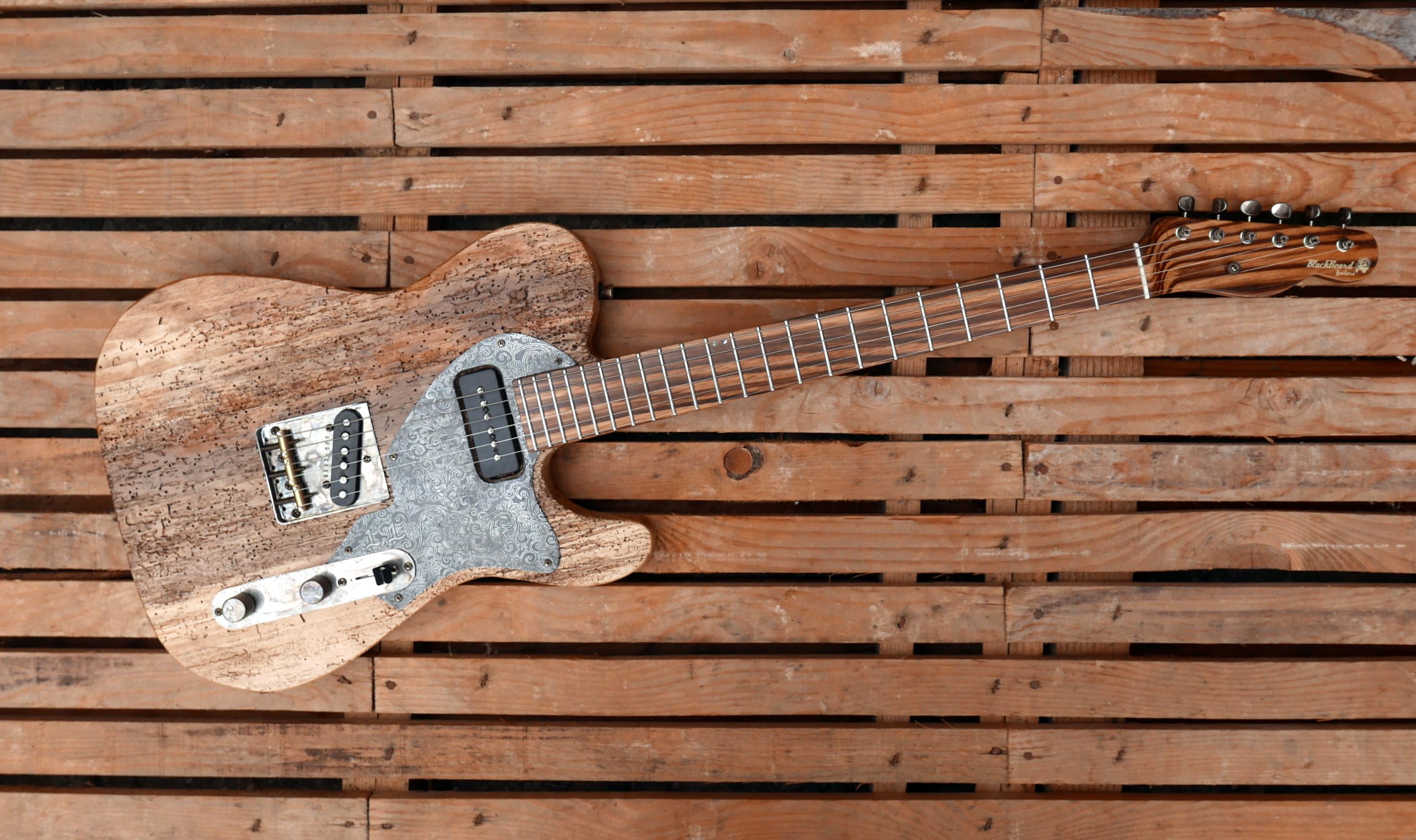 chitarra telecaster vista dall'alto
