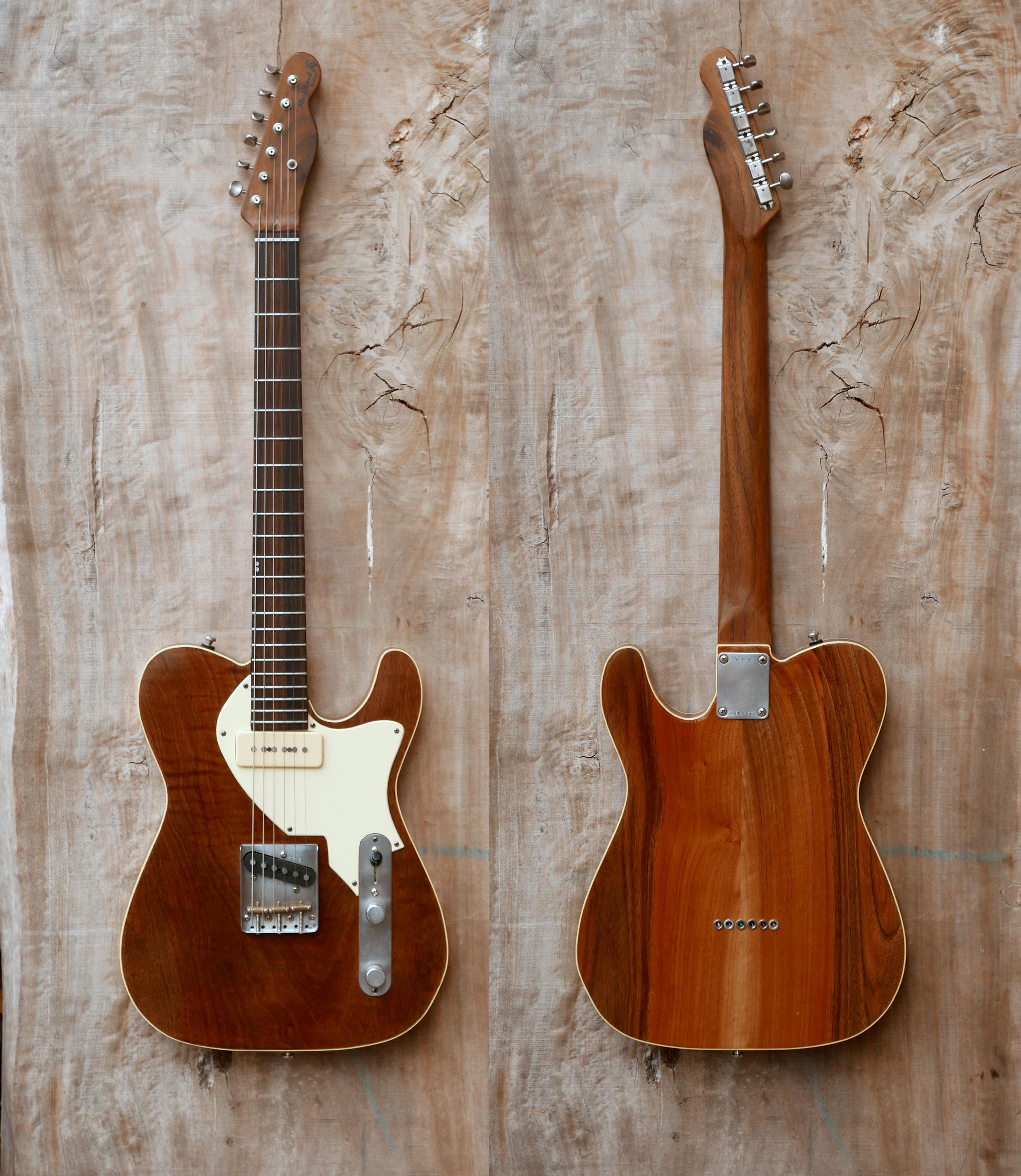 chitarra telecaster appesa fronte retro