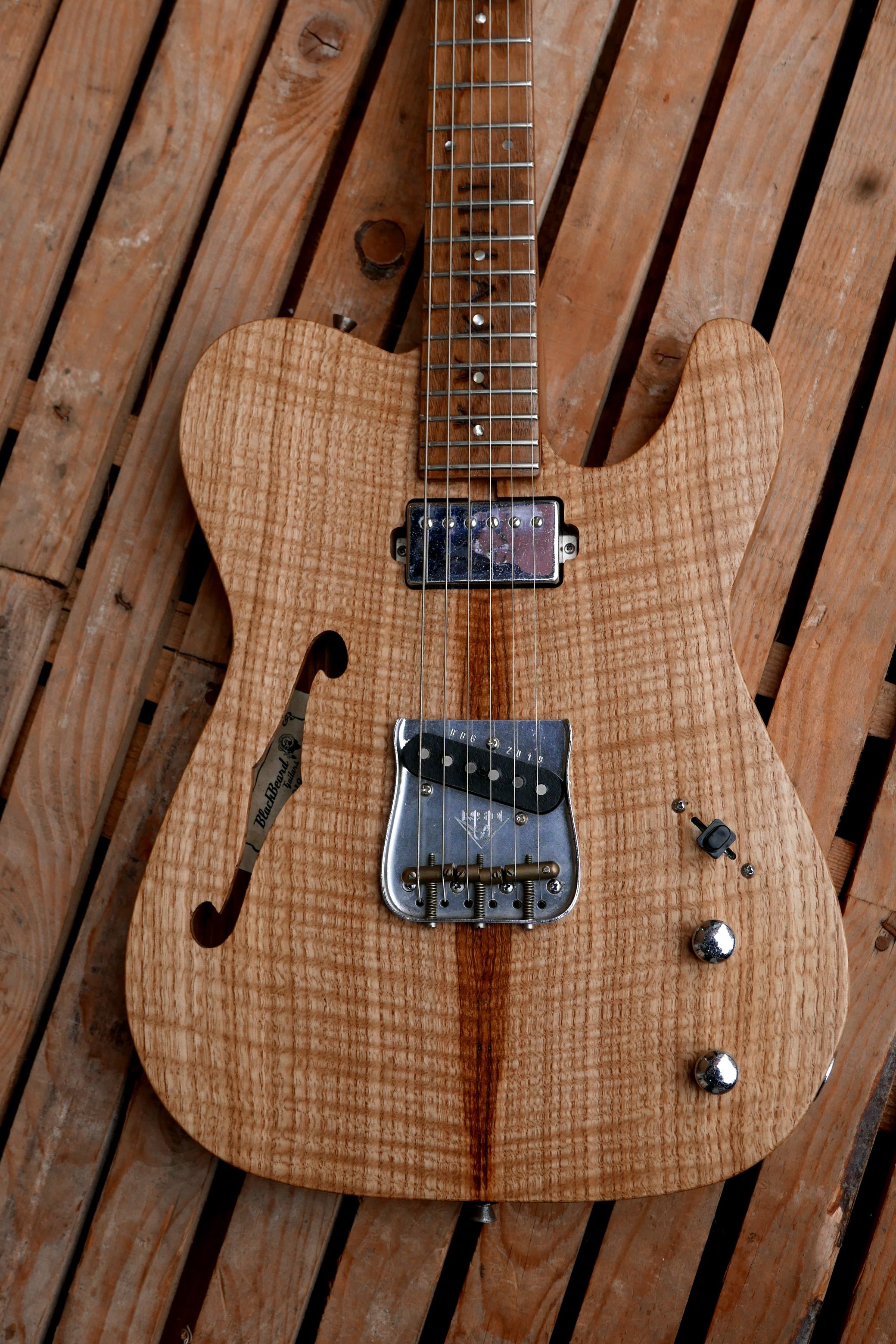 body chitarra telecaster top in castagno