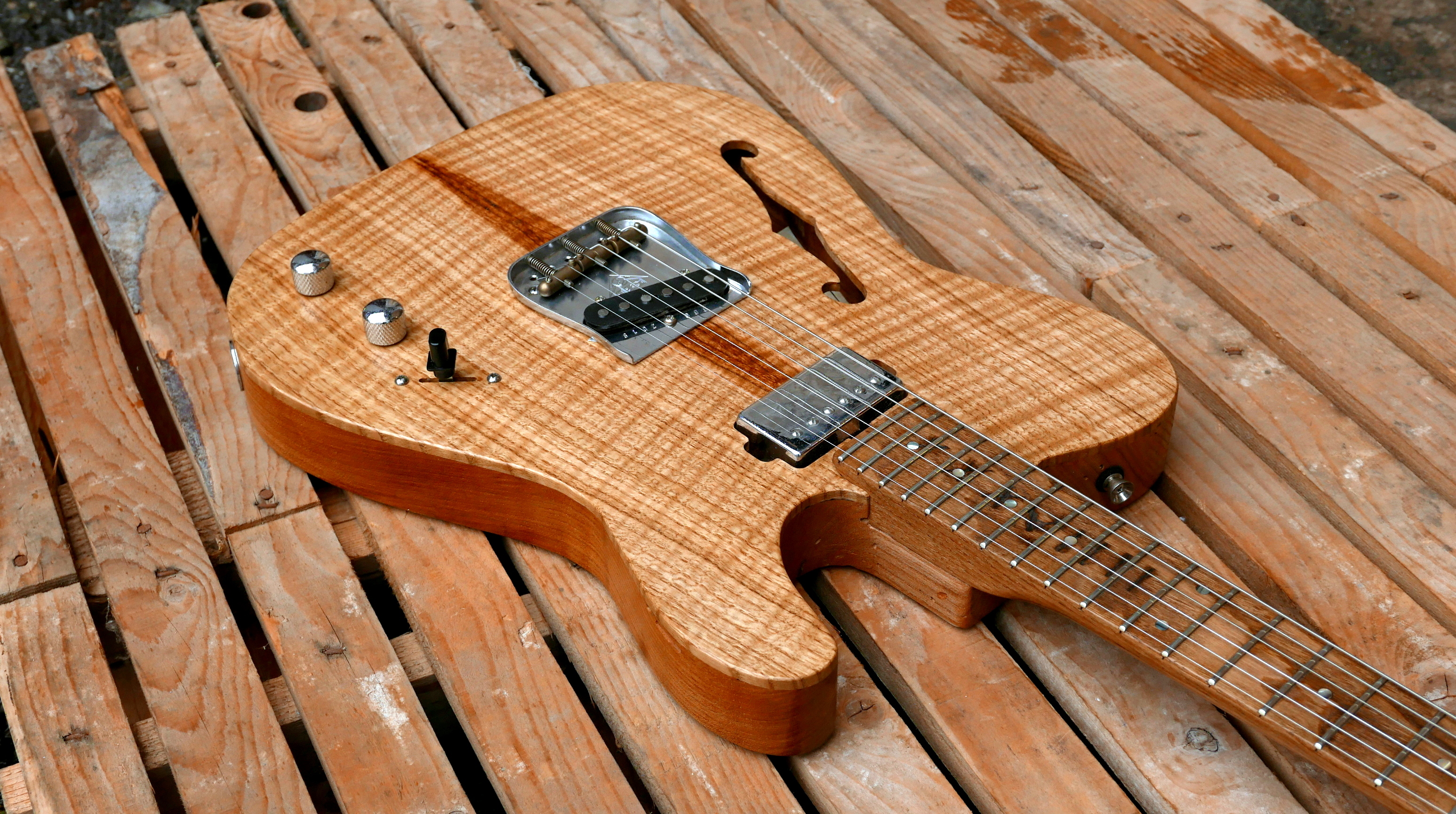 body chitarra telecaster fake binding