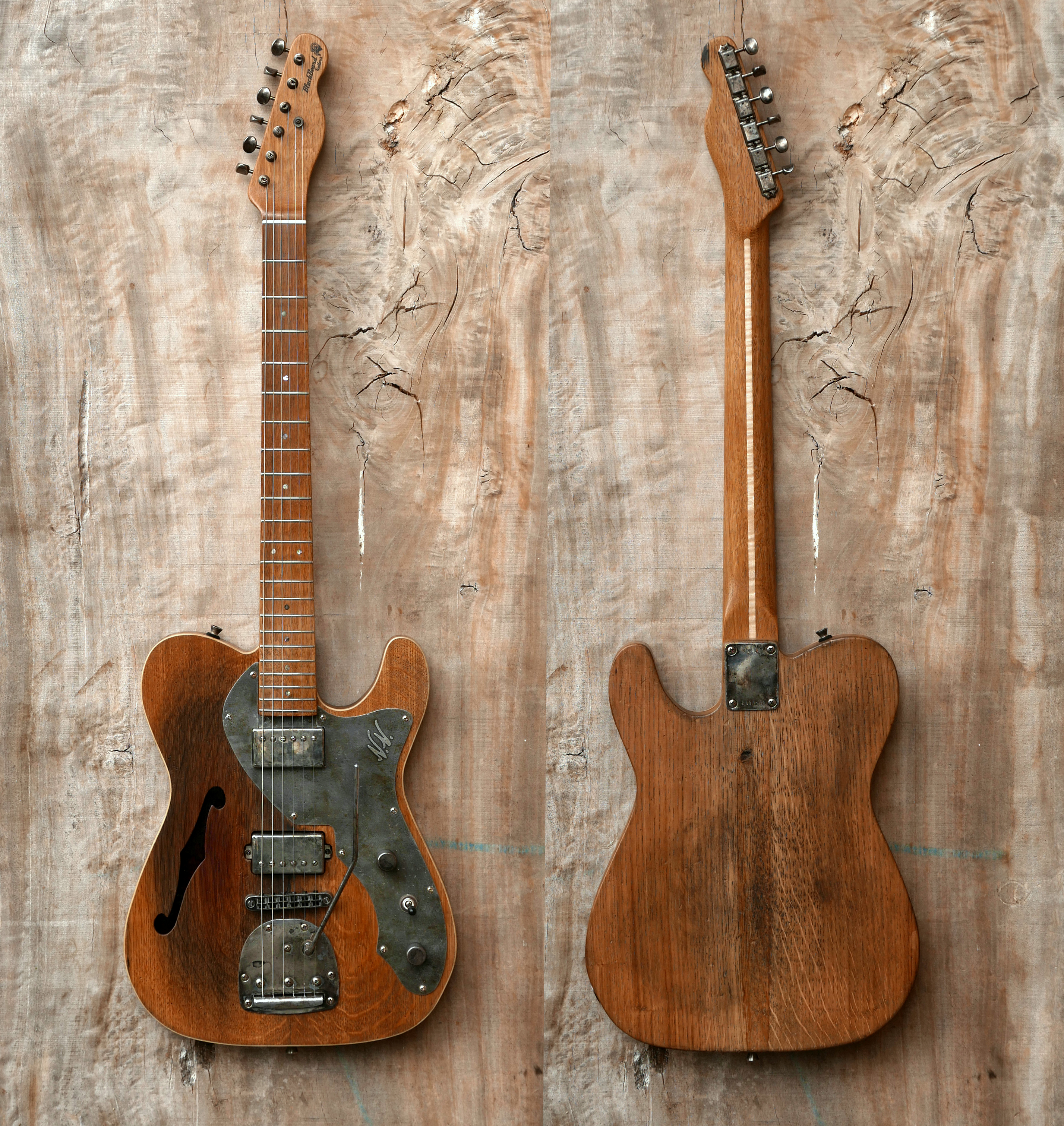 chitarra telecaster fronte e retro