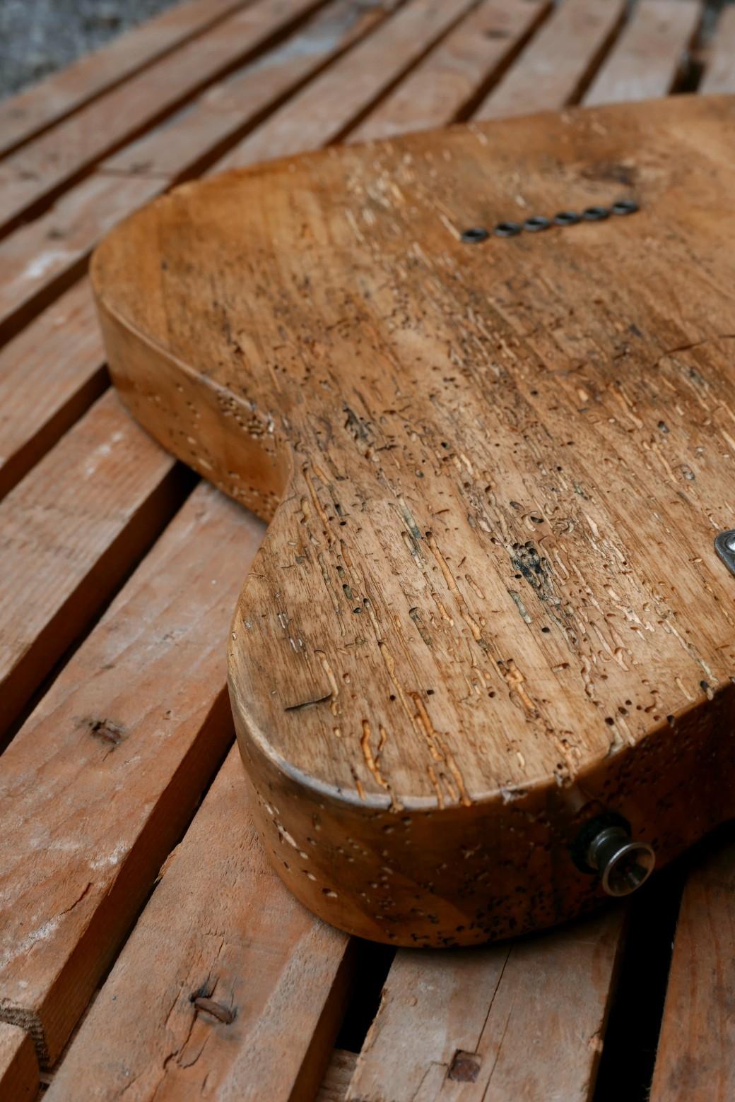 dettaglio legno tarlato