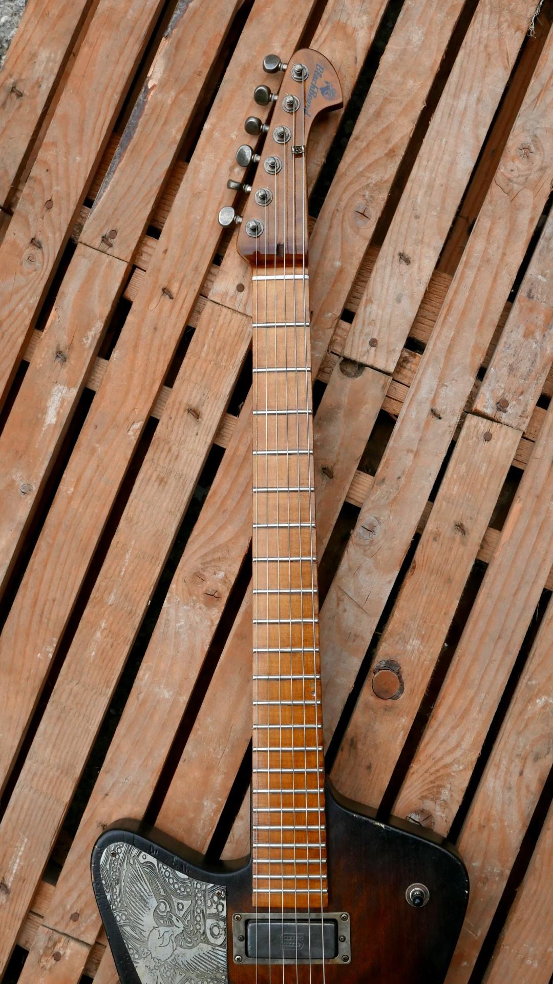 chitarra firebird manico acero
