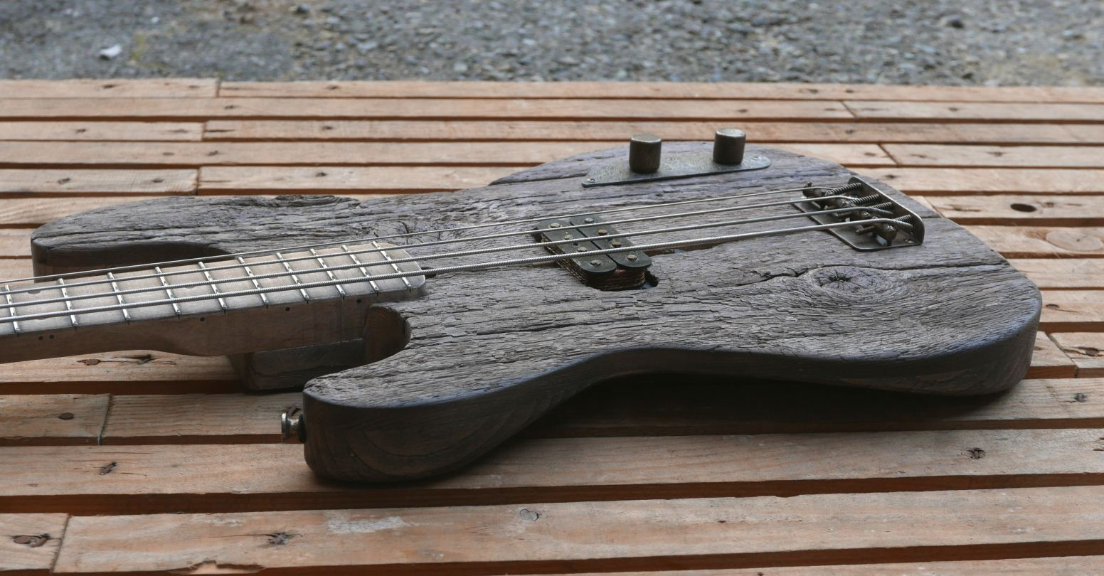 precision bass old wood body
