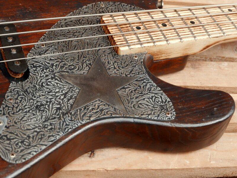 tele bass alluminium pickguard