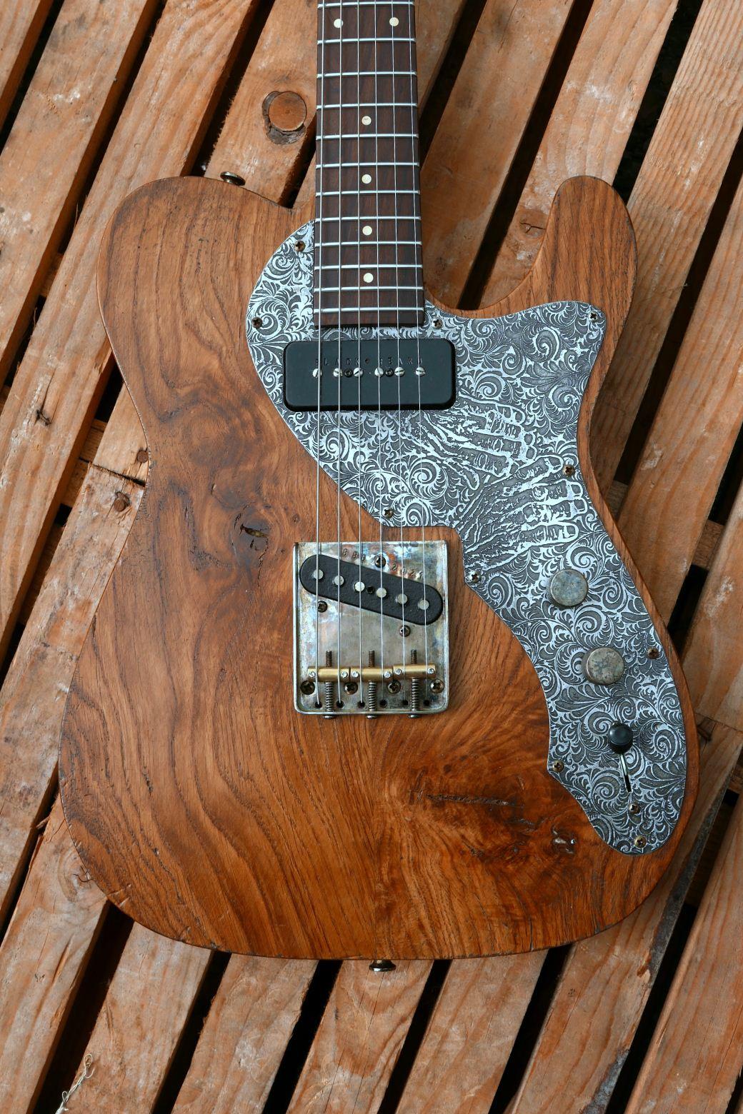 chitarra telecaster top rovere