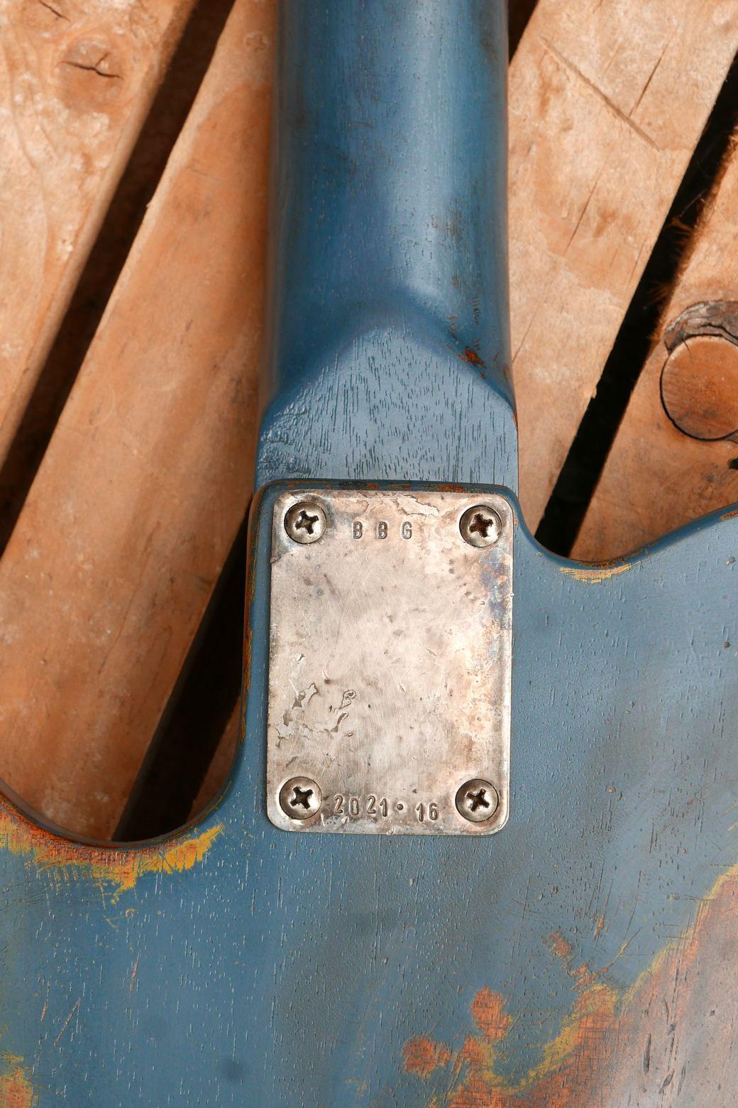 chitarra telecaster in mogano placca controlli