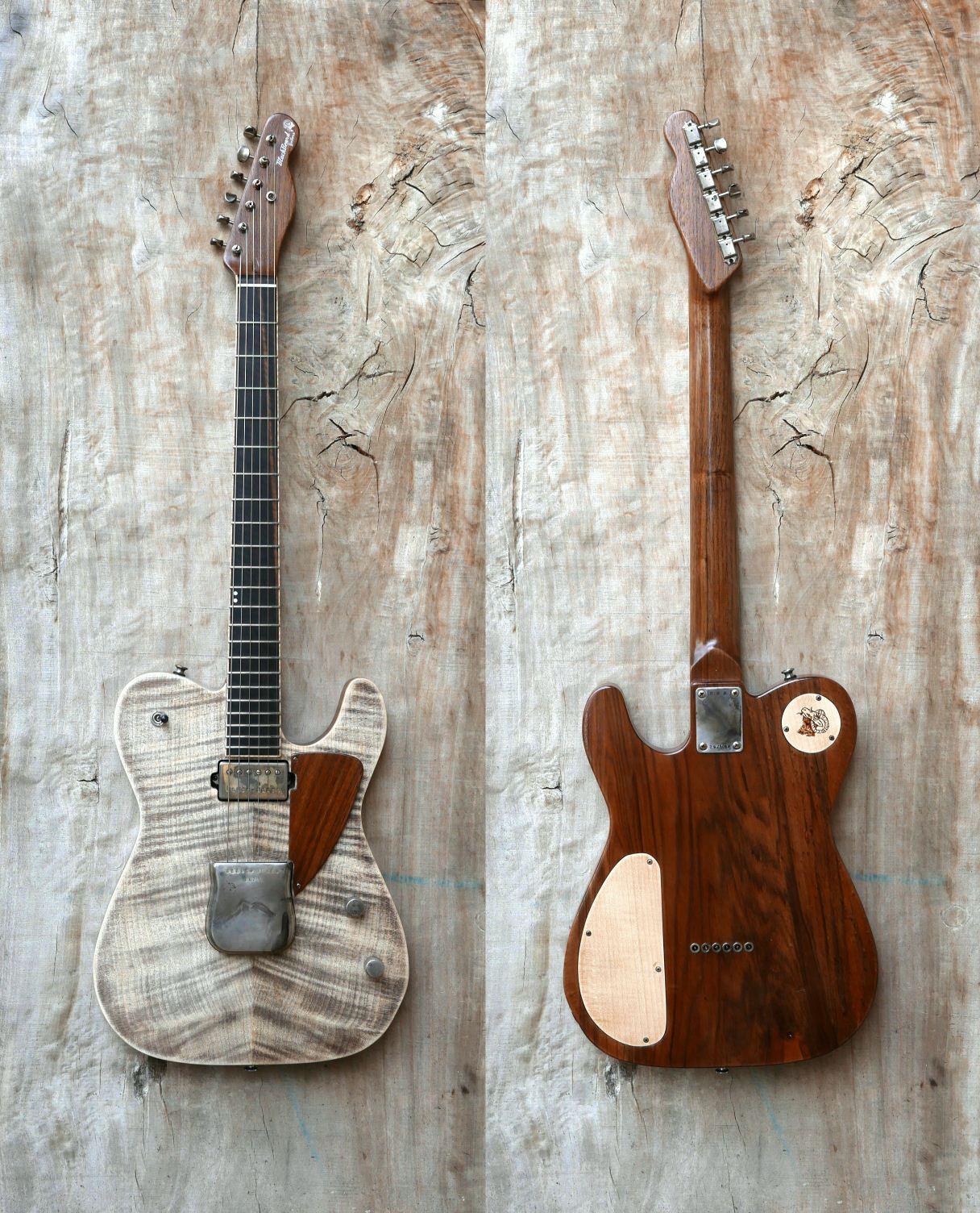 chitarra telecaster fronte retro