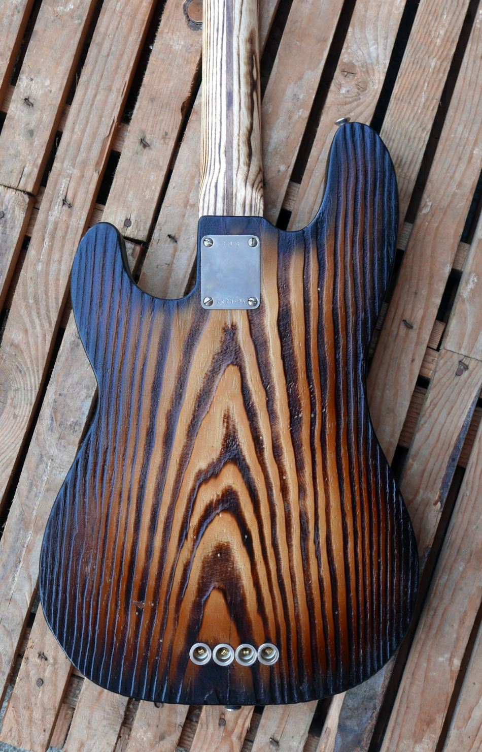 precision bass body back pine roasted