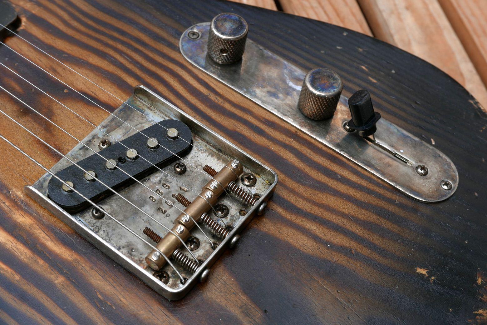 telecaster two tone sunburst bridge control plate