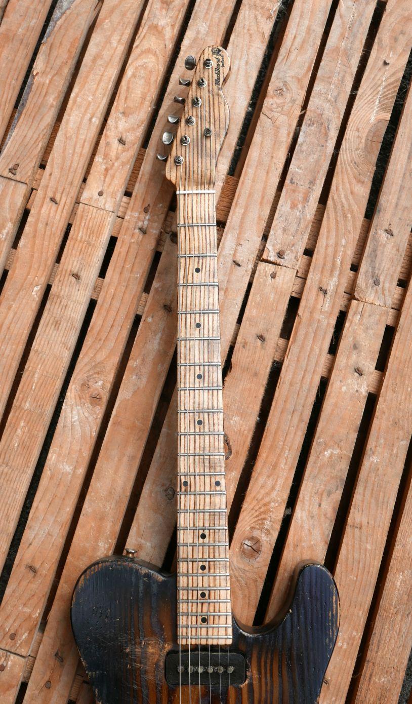 ash neck guitar