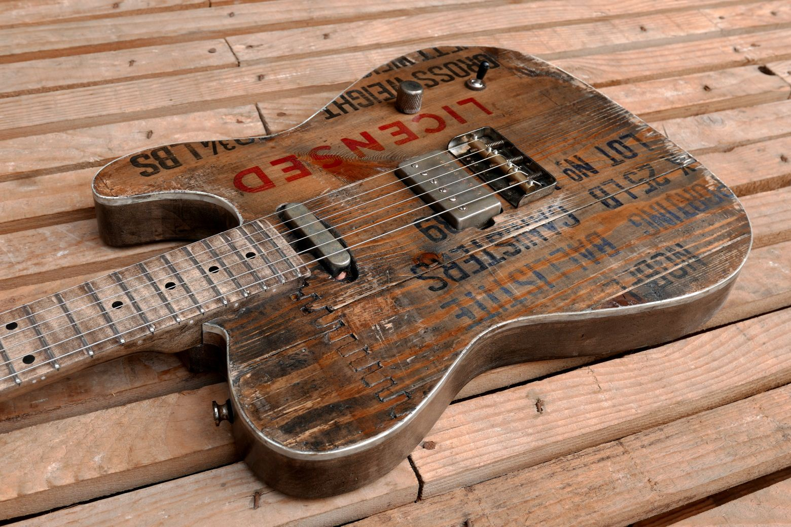 old crate top telecaster body binding